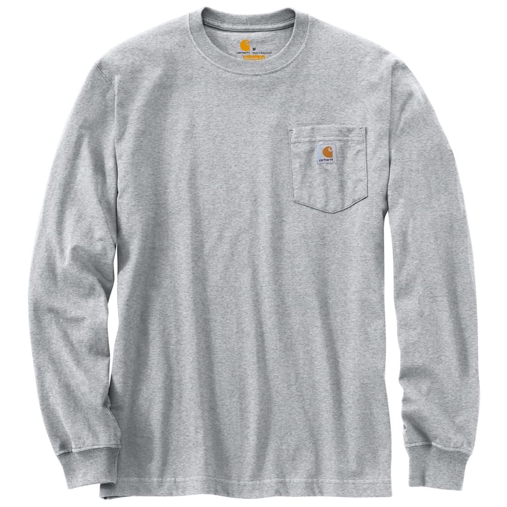 d06beb71 CARHARTT Men's Workwear Pocket Long-Sleeve Tee - HEATHER ...