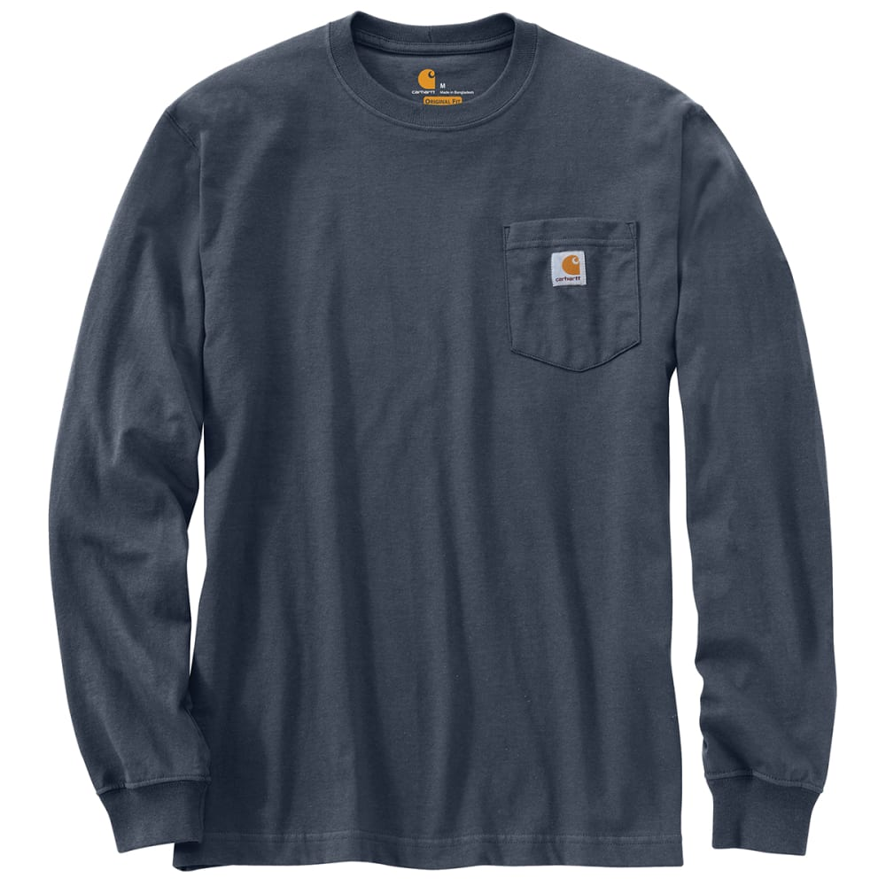 CARHARTT Men's Workwear Pocket Long-Sleeve Tee - BLUESTONE BLS