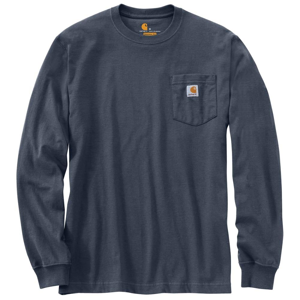 CARHARTT Men's Workwear Pocket Long-Sleeve Tee - BLUESTONE BLS