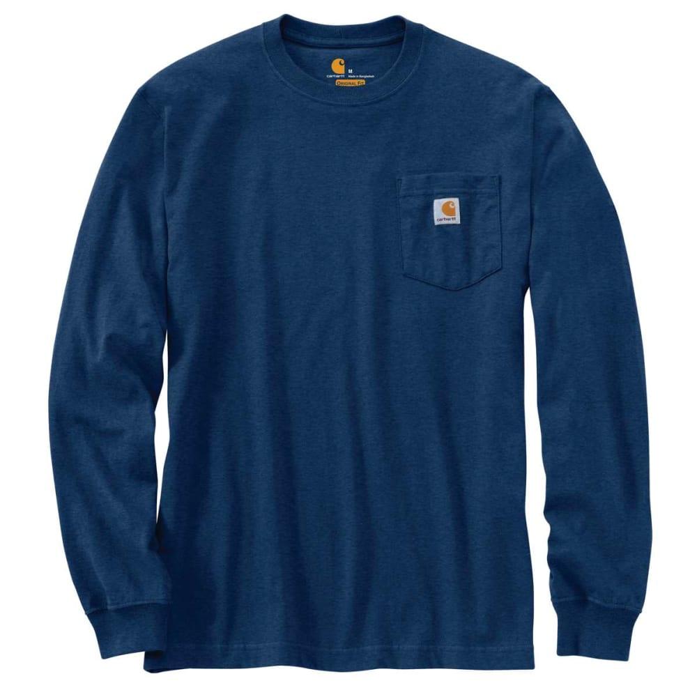 CARHARTT Men's Workwear Pocket Long-Sleeve Tee - COBALT BLU HTHR 413
