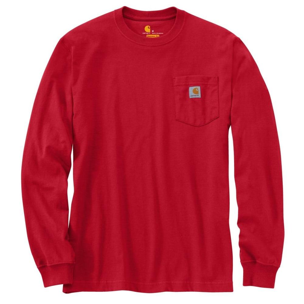 CARHARTT Men's Workwear Pocket Long-Sleeve Tee - RED 600