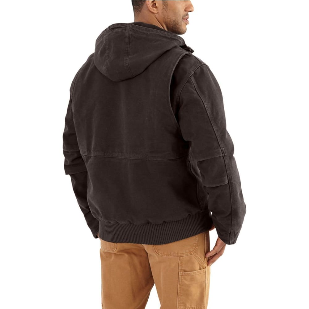 CARHARTT Men's Full-Swing Armstrong Active Hooded Jacket - 201 DARK BROWN