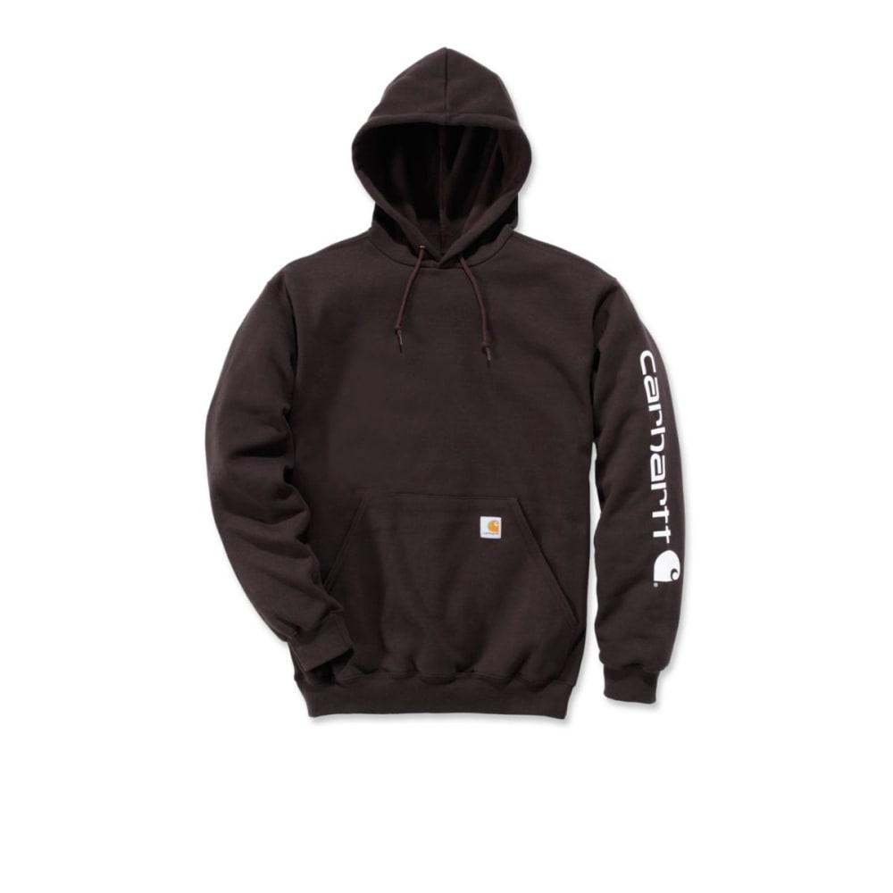 b6000e787 CARHARTT Men's Midweight Hooded Logo Sweatshirt - DARK BROWN DKB