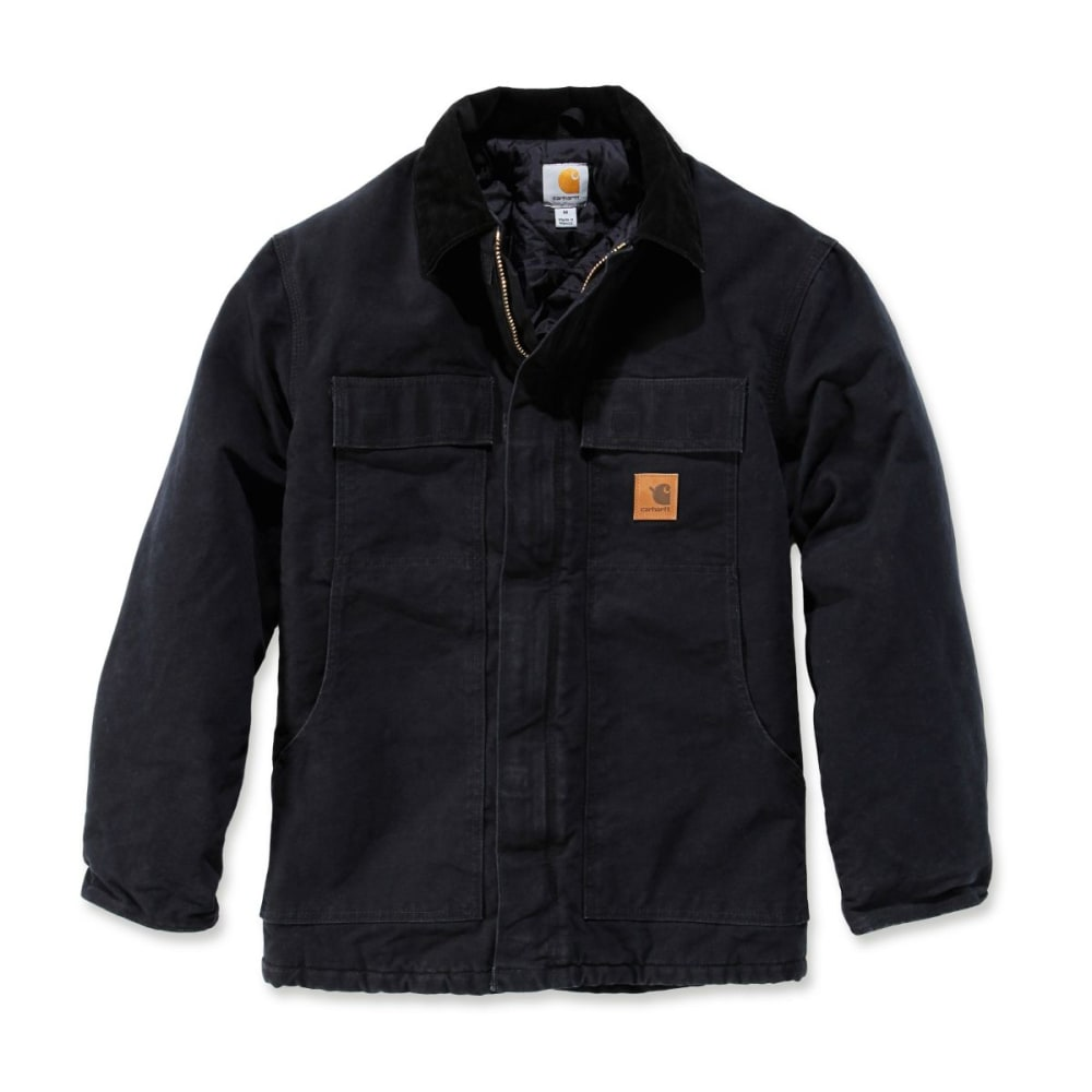CARHARTT Men's Sandstone Traditional Arctic Quilt-lined Coat - BLACK