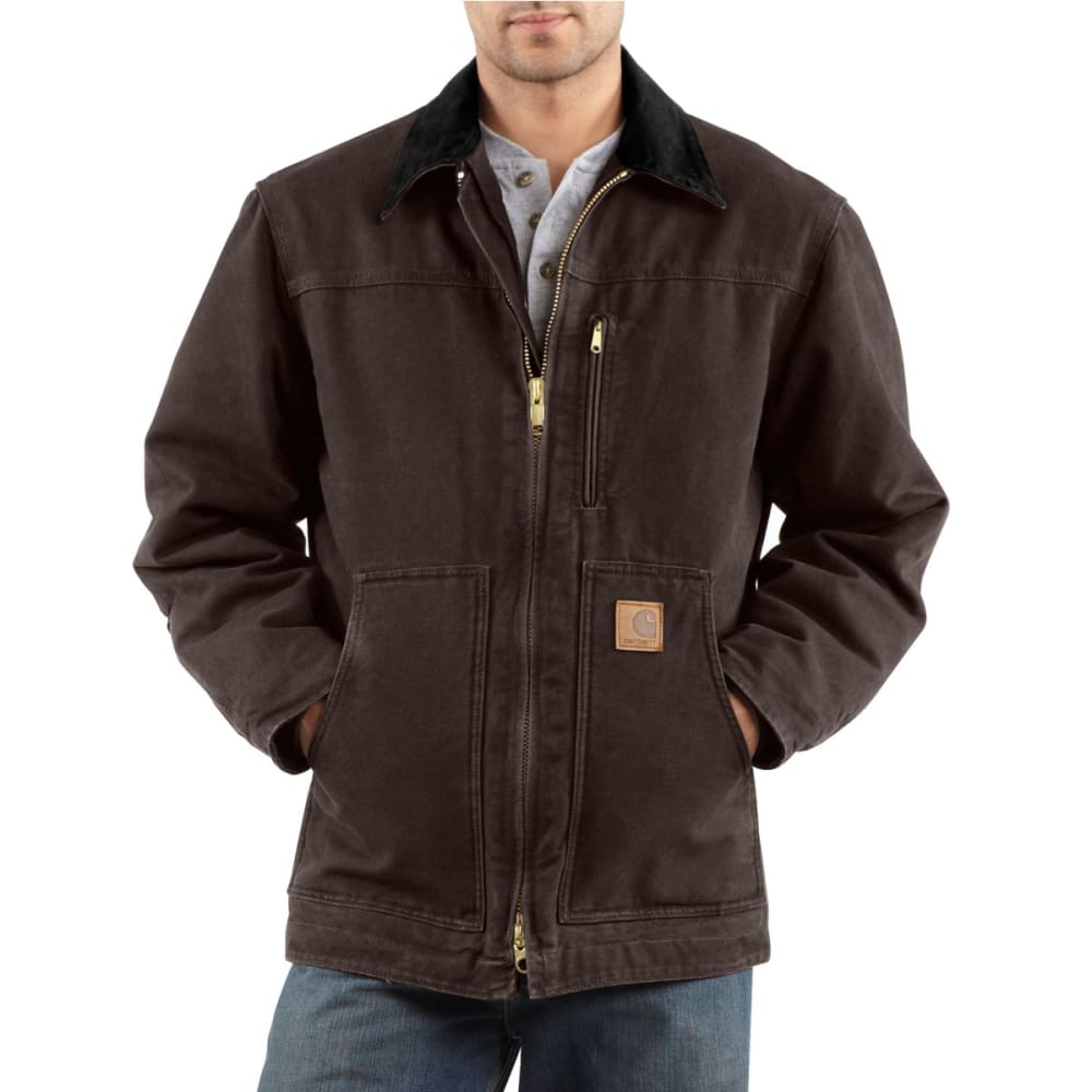 CARHARTT Men's Ridge Coat - DARK  BROWN
