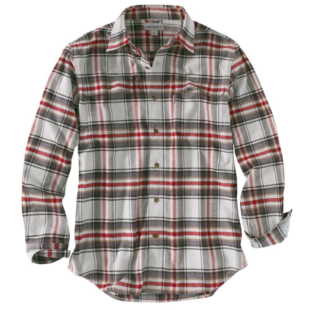 CARHARTT Men's Hubbard Plaid Long-Sleeve Shirt - 029 SHADOW