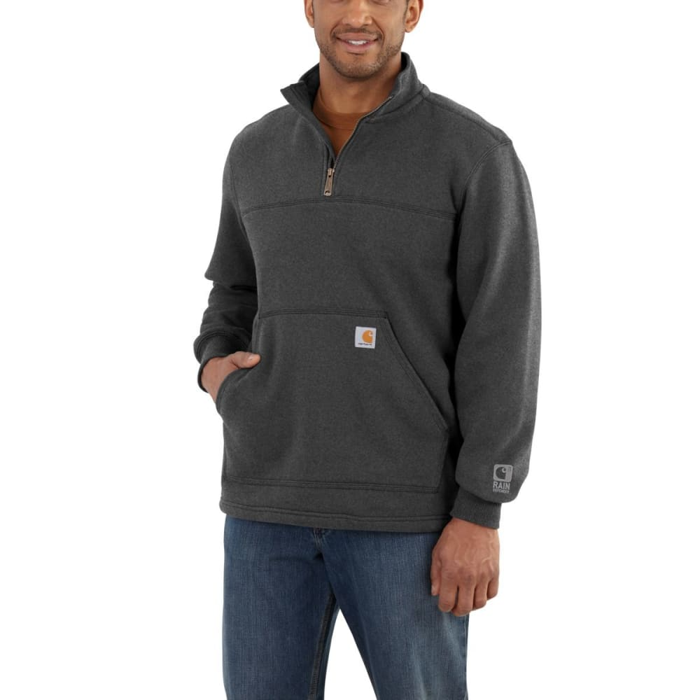 CARHARTT Men's Rain Defender Paxton Heavyweight Quarter-Zip Sweatshirt - 026 CARBON HEATHER