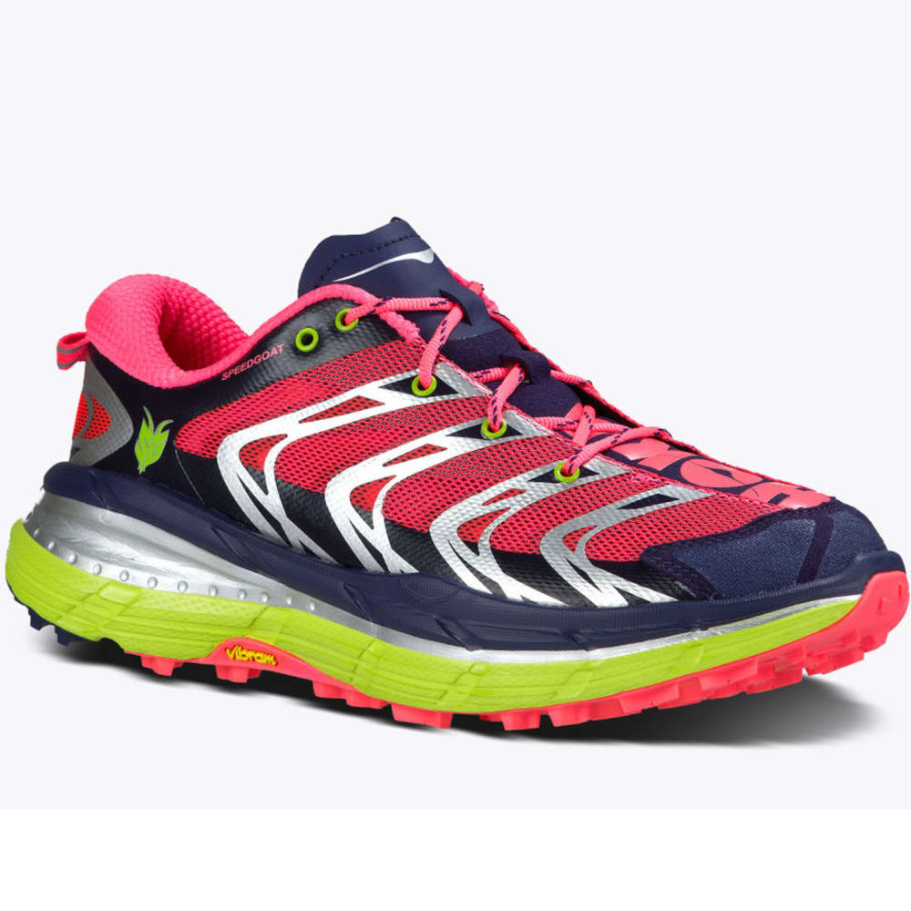 HOKA ONE ONE Women's Speedgoat Trail Running Shoes, Astral Aura/Neon Pink - ASTRAL AURA