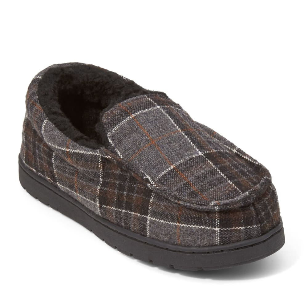 NORTHSIDE Boys' Buckaroo Lined Plaid Slippers - GREY