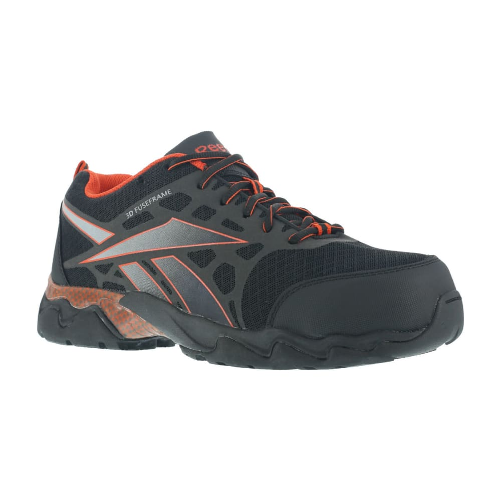 REEBOK WORK Men's Beamer Shoes - BLACK/RED TRIM
