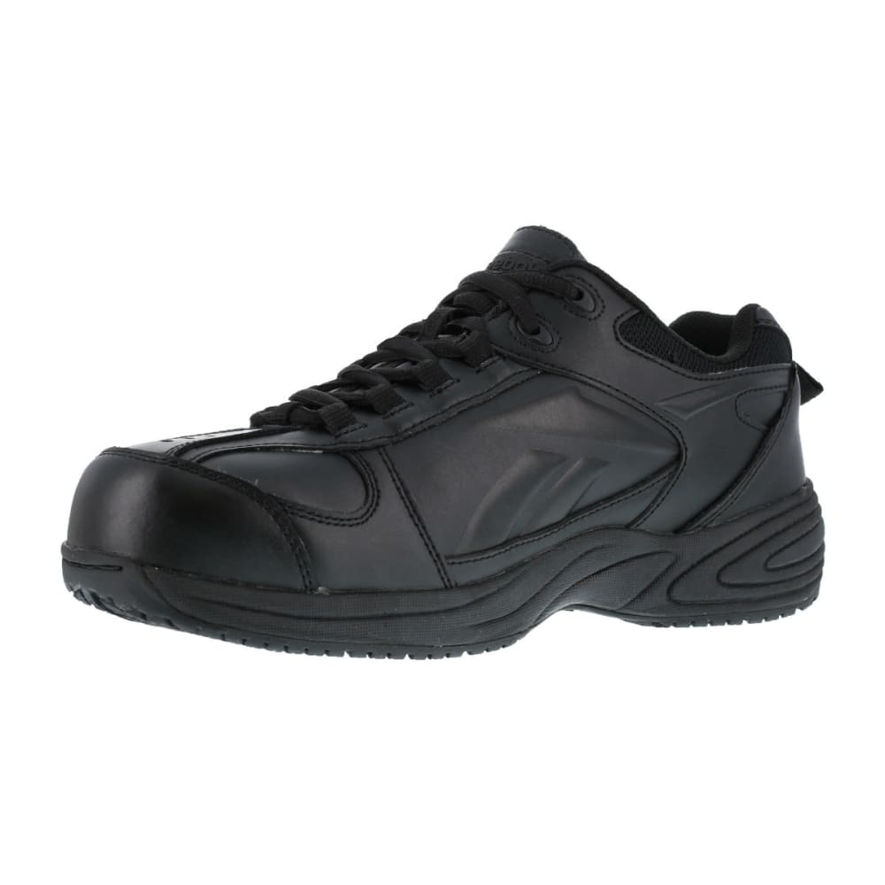 REEBOK WORK Men's Jorie Shoes, Wide - BLACK