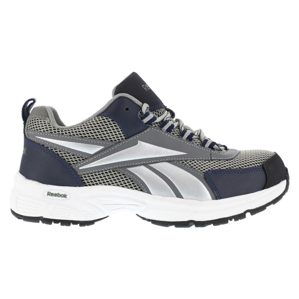 REEBOK WORK Men's Kenoy Steel Toe Cross Trainer Shoes, Gray/ Navy, Medium Width - GRAY & NAVY