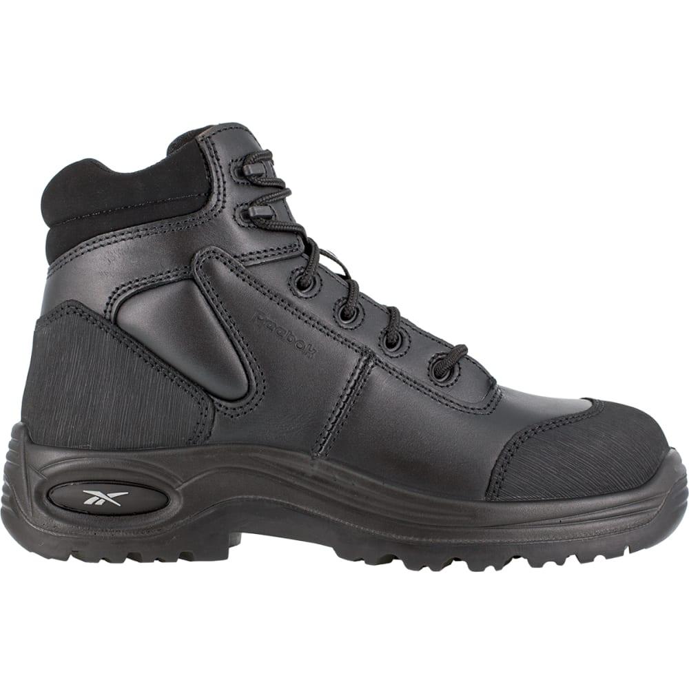 REEBOK WORK Men's Trainex Composite Toe 6inch Work Boots, Black, Medium Width - BLACK