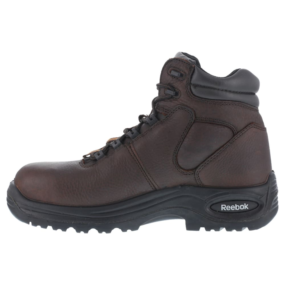 REEBOK WORK Men's Trainex Composite Toe 6inch Work Boots, Brown, Wide - DARK BROWN