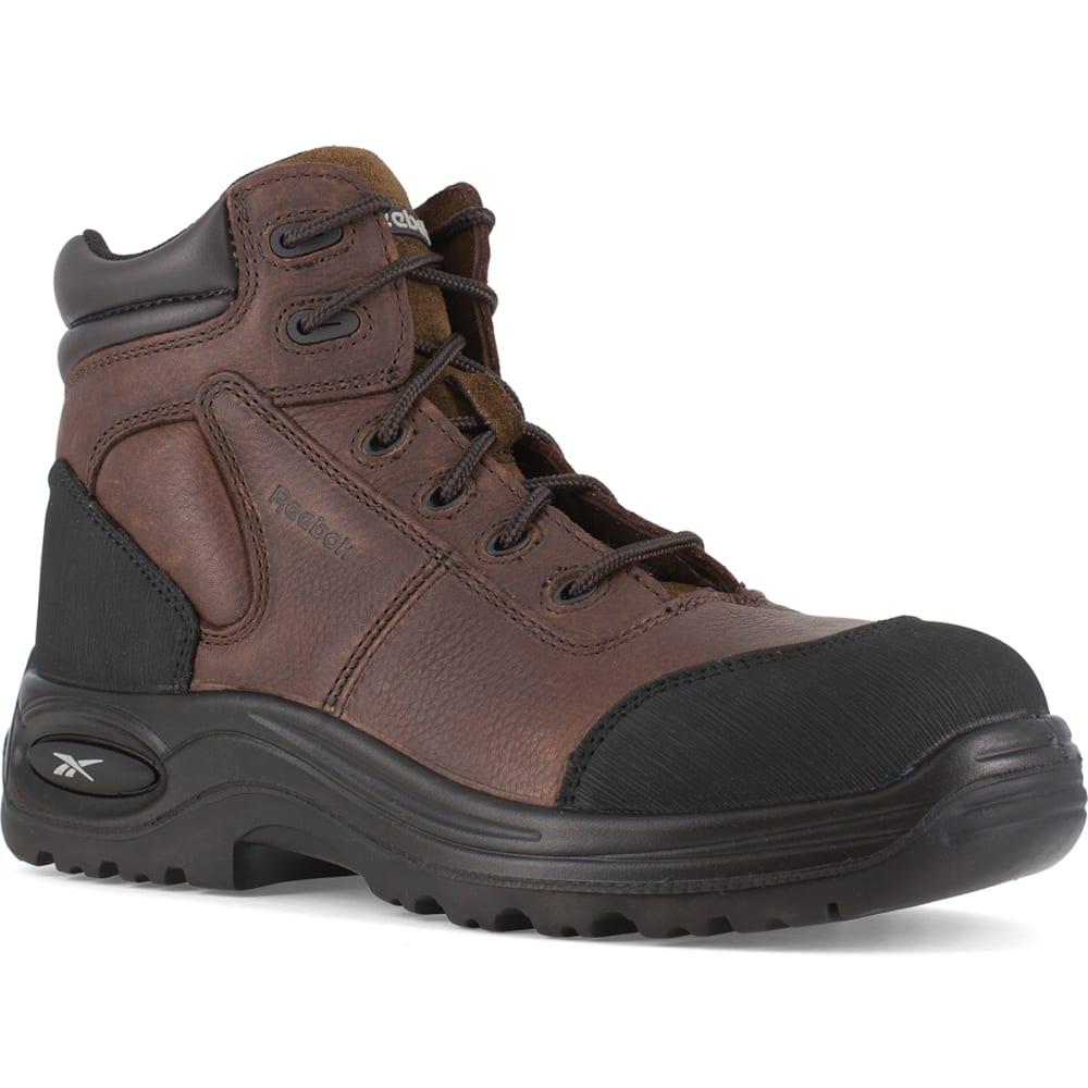 "REEBOK WORK Men's Trainex Composite Toe 6"" Work Boots, Wide - DARK BROWN"