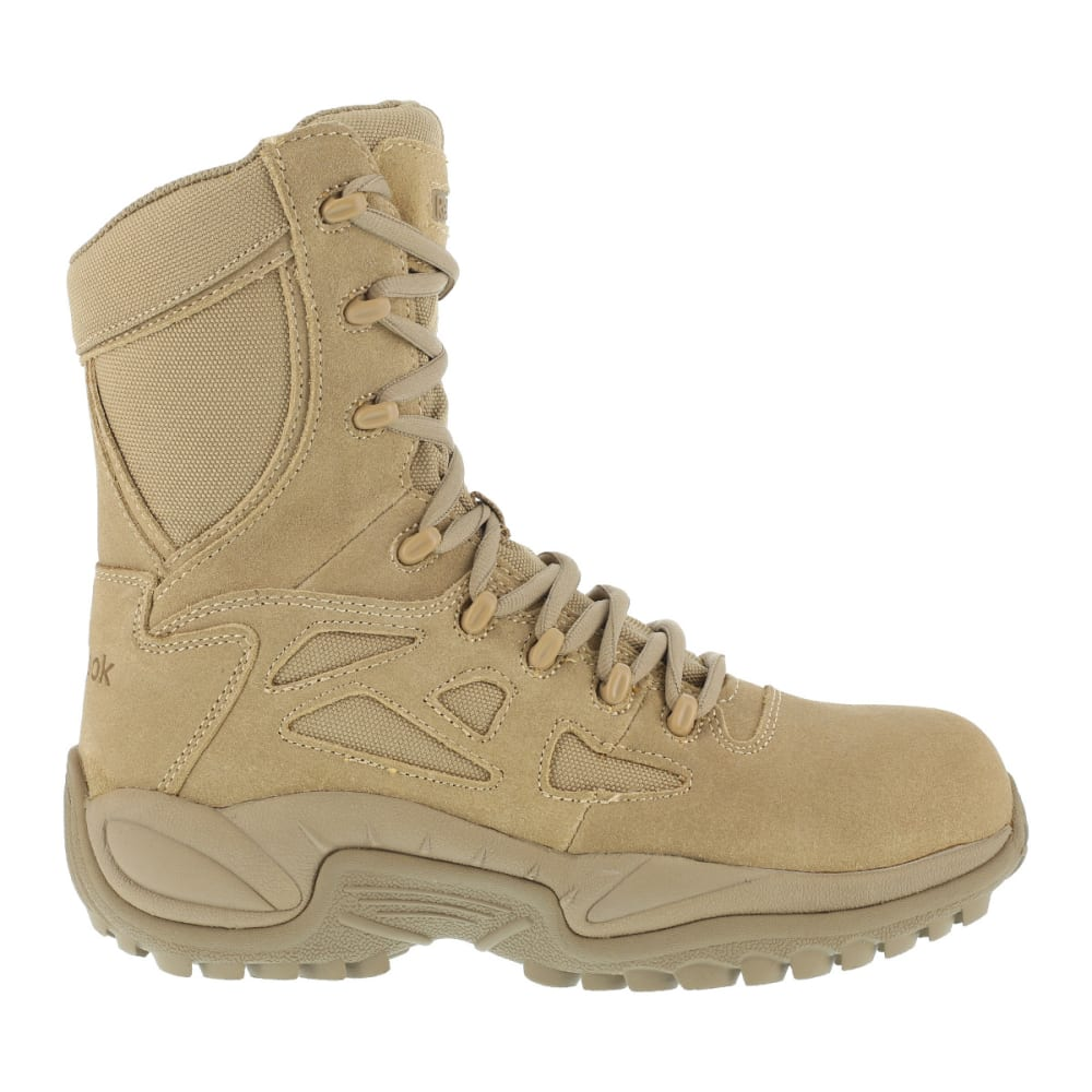REEBOK WORK Men's Rapid Response 8inch RB Composite Toe Work Boots, Desert Tan, Medium Width - DESERT TAN