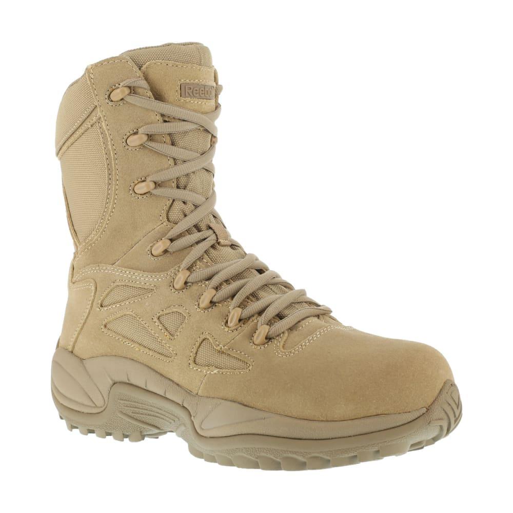 REEBOK WORK Men's Rapid Response 8inch RB Composite Toe Work Boots, Desert Tan, Wide - DESERT TAN