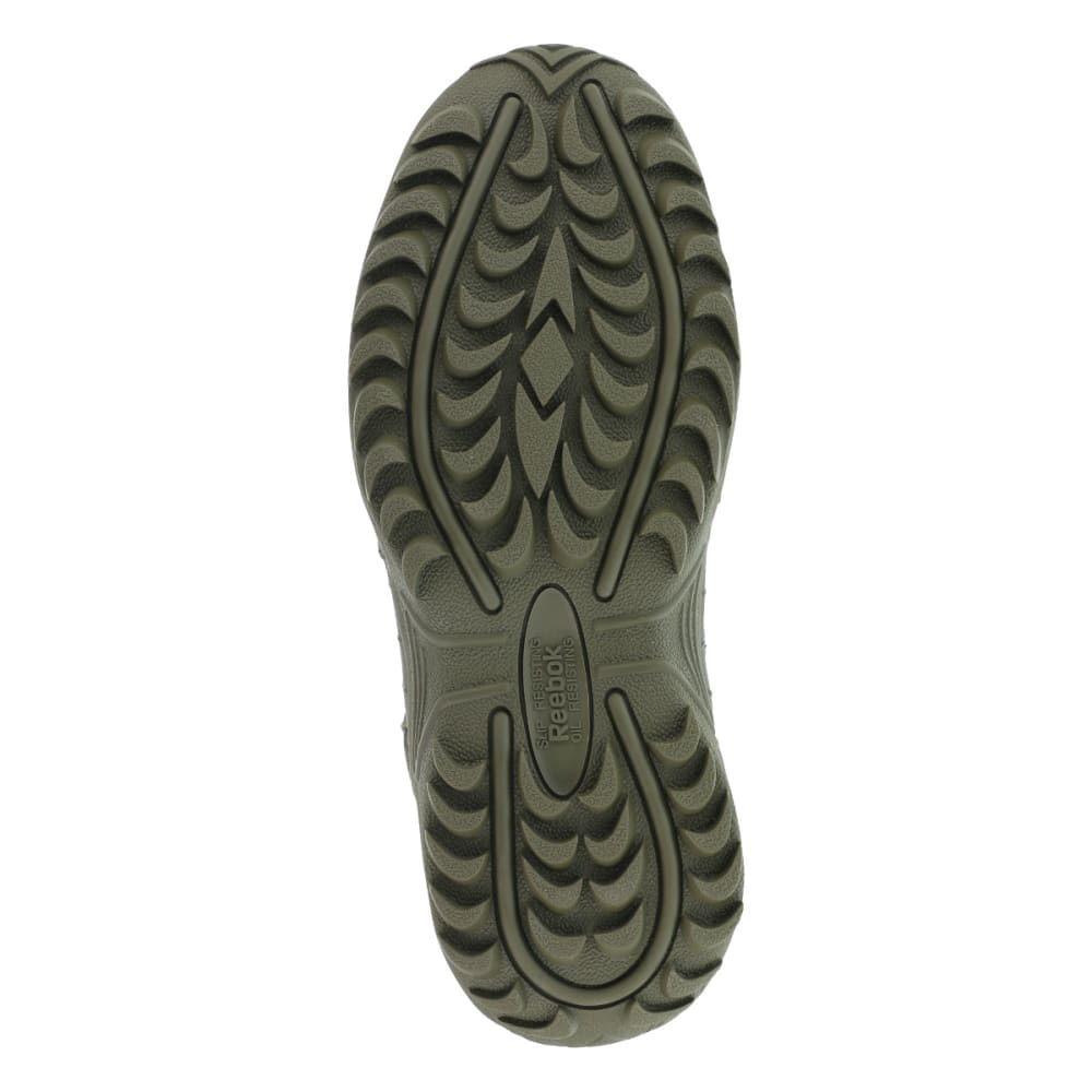 REEBOK WORK Men's Rapid Response 8inch RB Composite Toe Work Boots, Sage Green, Medium Width - SAGE GREEN