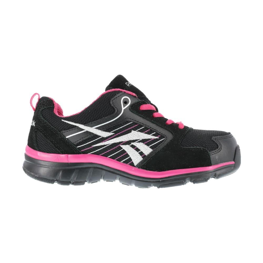 REEBOK WORK Women's Anomar Shoes, Wide - BLACK/ PINK W/SLV T