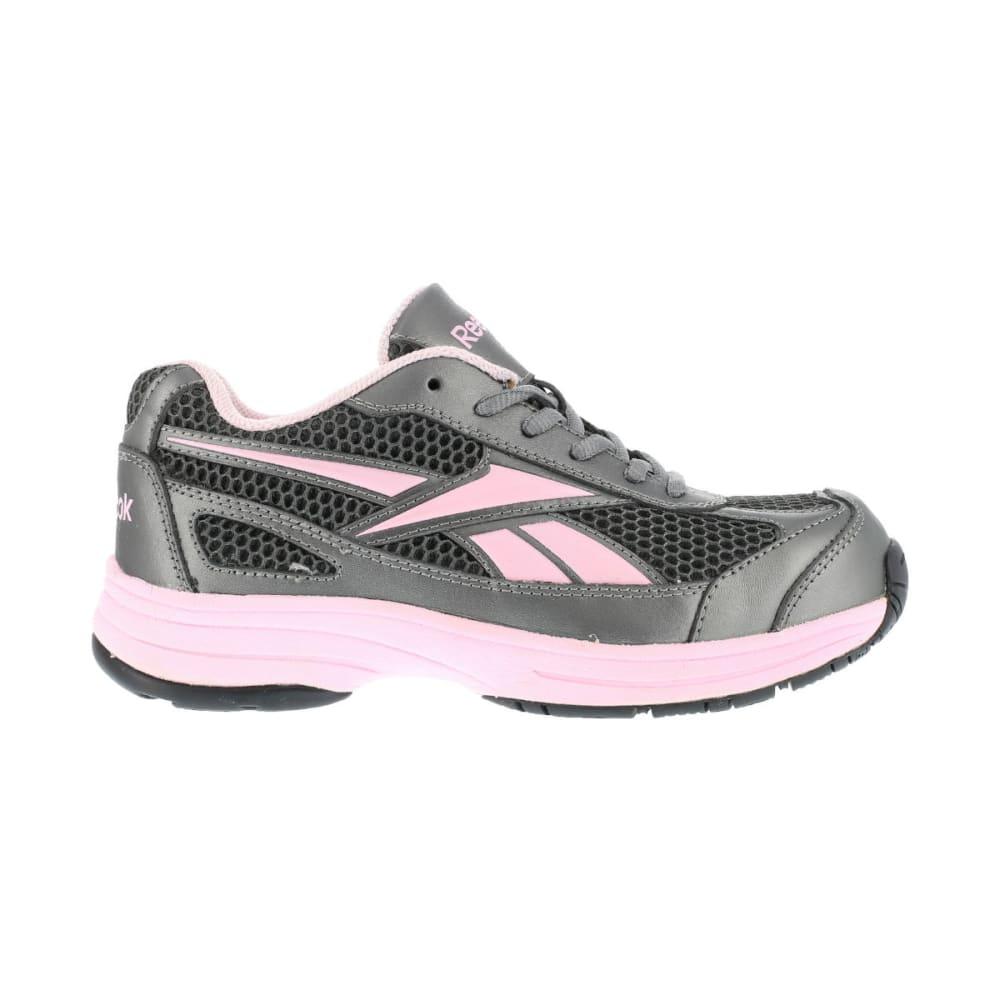 REEBOK WORK Women's Ketee Shoes, Wide - PEWTER W/ PINK TRIM