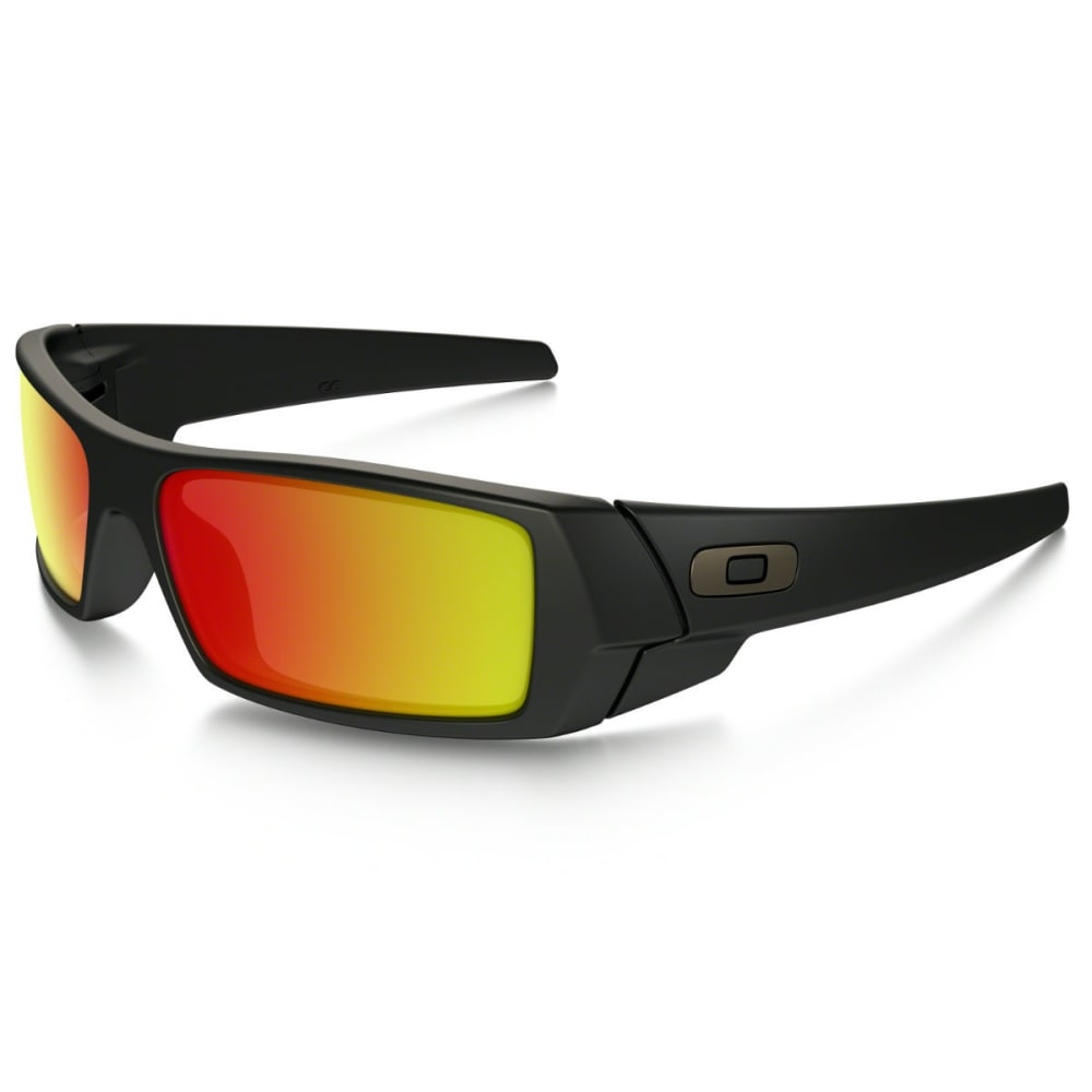 OAKLEY GasCan Sunglasses, Matte Black - BLACK/RUBY