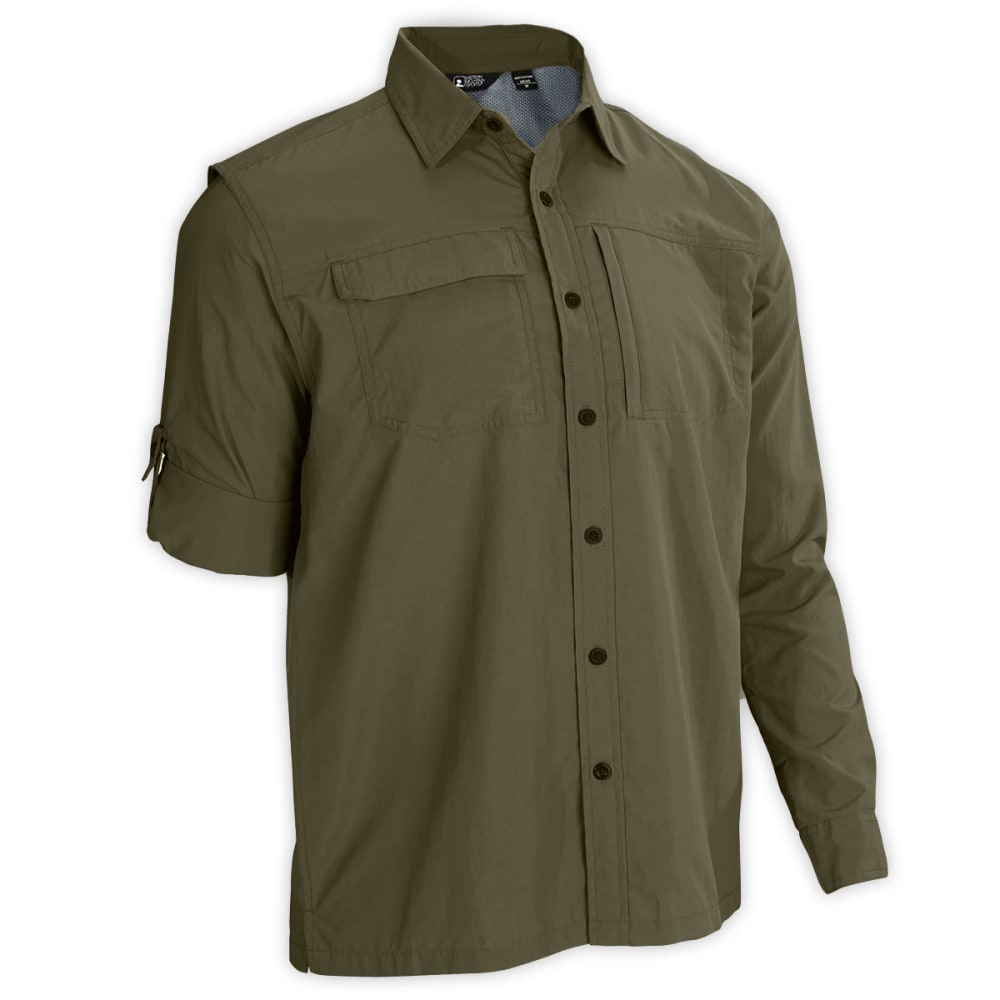EMS® Men's Trailhead UPF Long-Sleeve Shirt - FOREST NIGHT