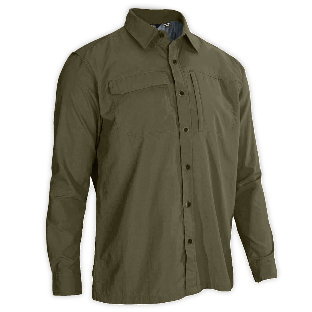EMS Men's Trailhead UPF Long-Sleeve Shirt - FOREST NIGHT