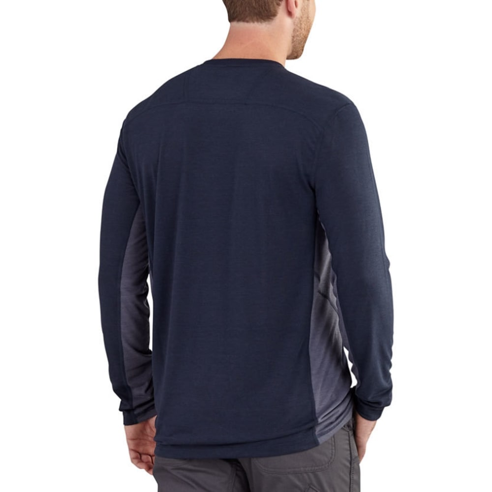 CARHARTT Men's Force Extremes Long-Sleeve Tee - 495 NAVY/BLUESTONE