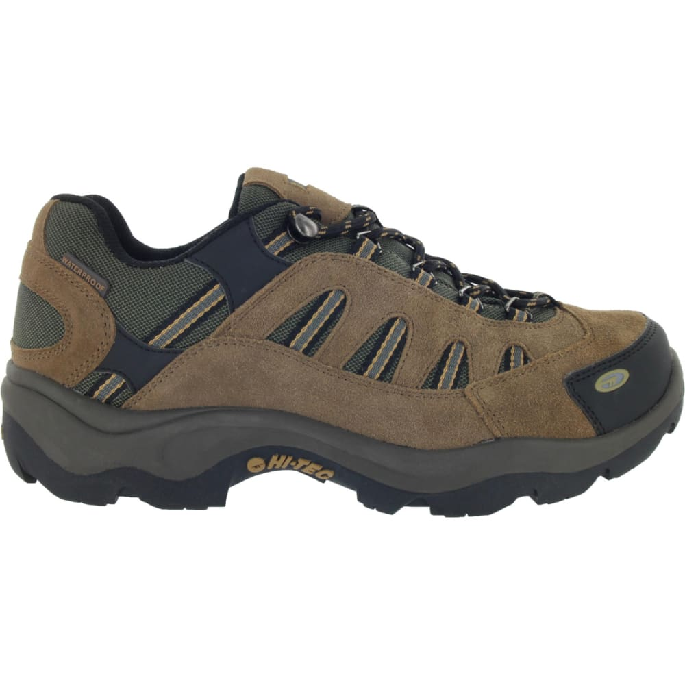HI-TEC Men's Bandera Low WP Hiking Shoes - BONE/BROWN/MUSTARD