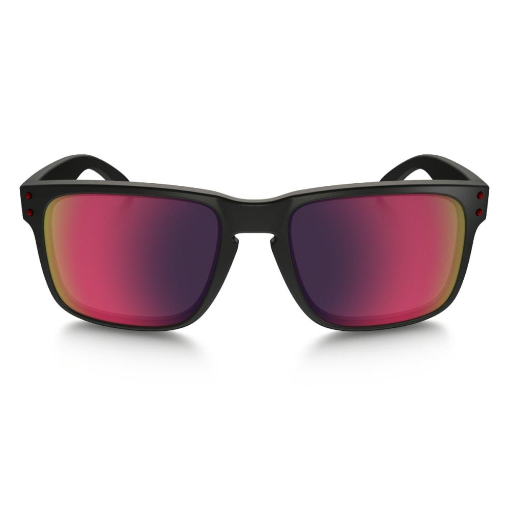 OAKLEY Men's Holbrook Matte Black with Red Iridium Sunglasses - MATTE BLACK/RED