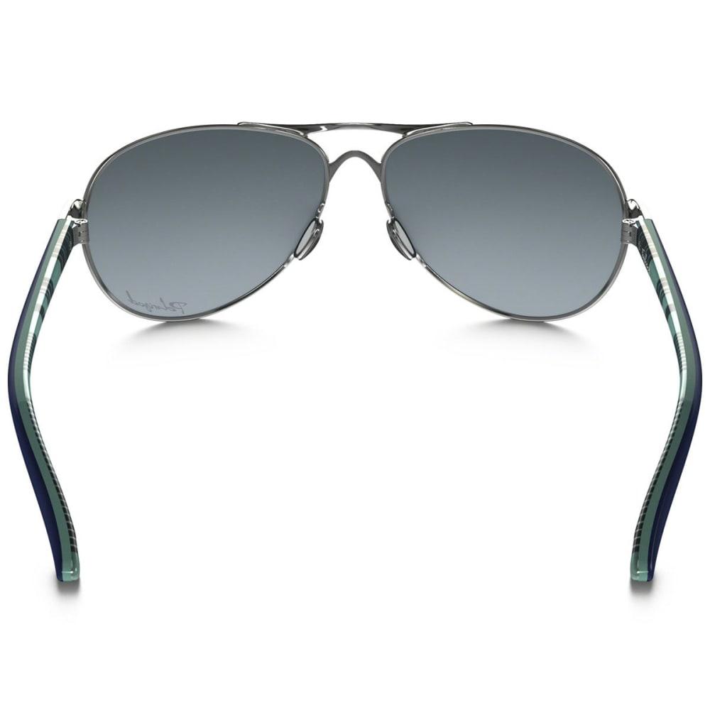 OAKLEY Women's Feedback Polarized Sunglasses, Polished Chrome - POLISHED CHROME GREY