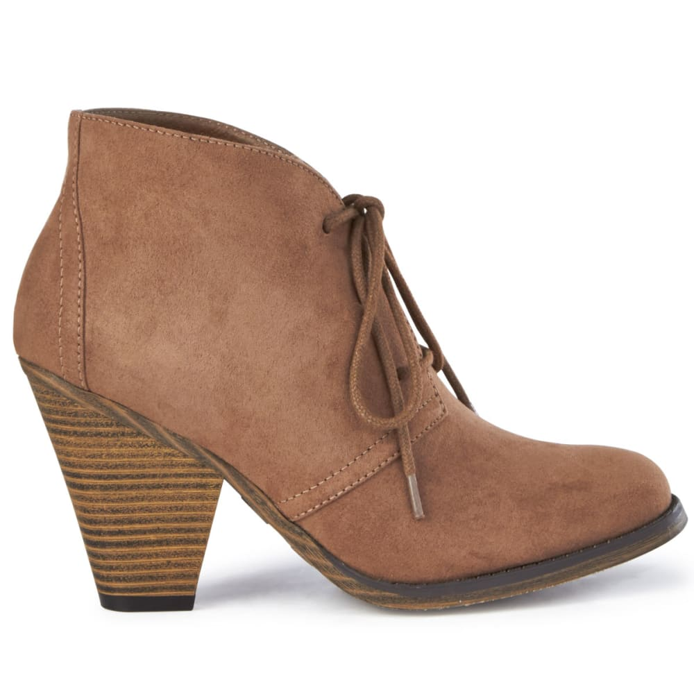 MIA Women's Shawna Cone Heel Bootie, Taupe - TAUPE