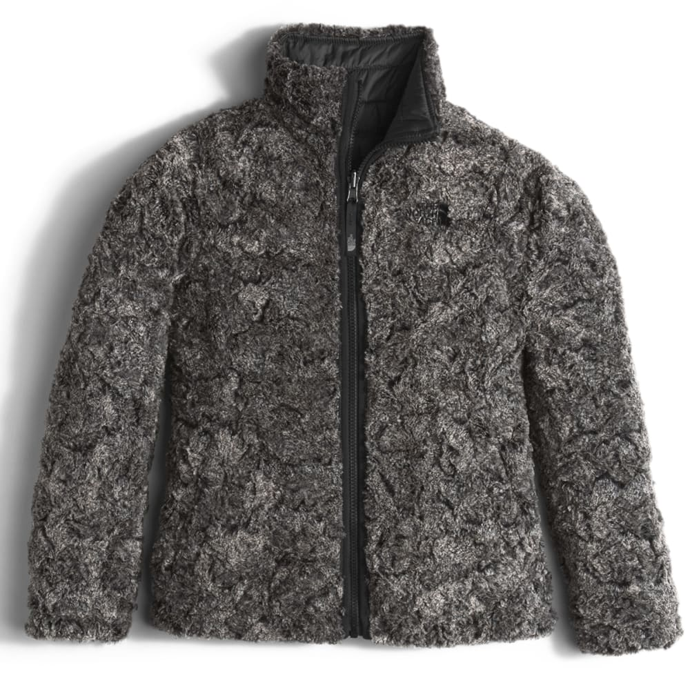 THE NORTH FACE Girls' Reversible Mossbud Swirl Jacket - B9K-TNF BLACK
