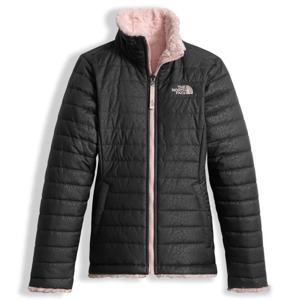 THE NORTH FACE Girls' Reversible Mossbud Swirl Jacket - 044-GRAPHITE GREY