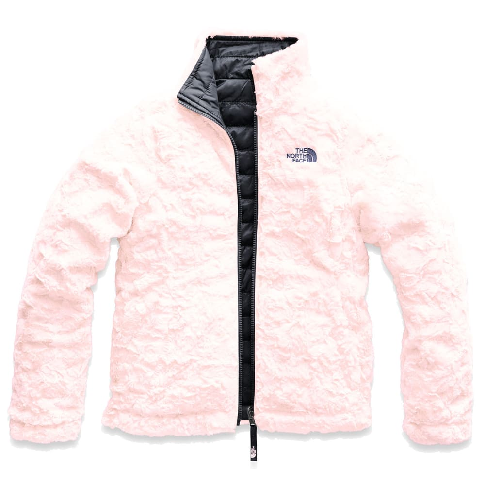 THE NORTH FACE Girls' Reversible Mossbud Swirl Jacket - 3YN-PERISCOPE GRY