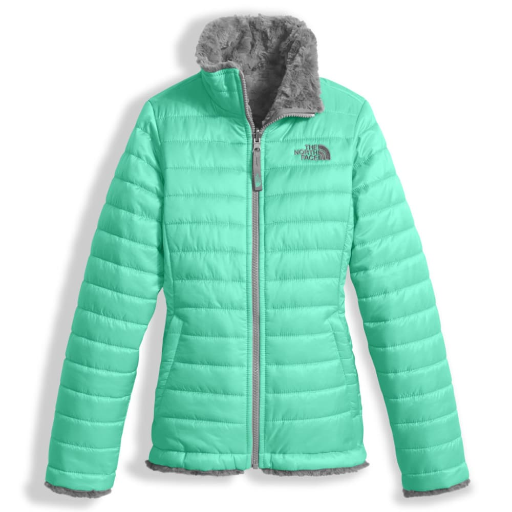 THE NORTH FACE Girls' Reversible Mossbud Swirl Jacket - RWW-BERMUDA GREEN