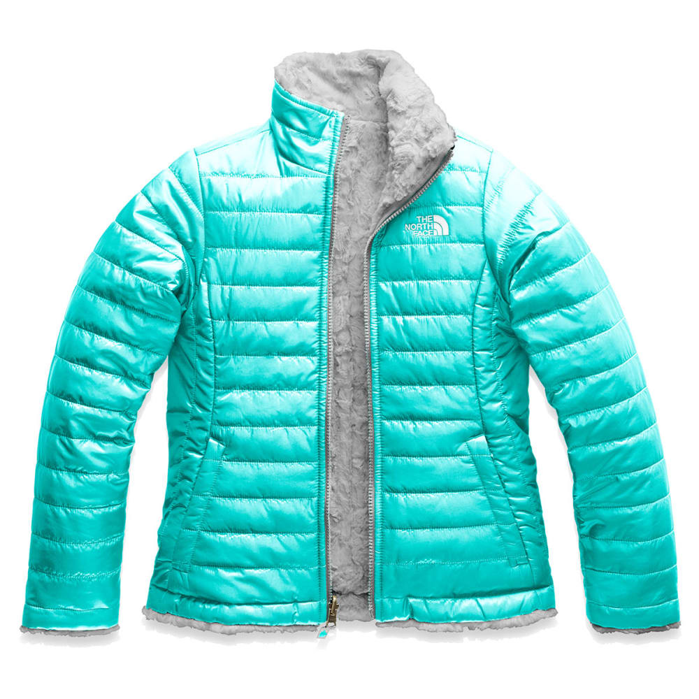THE NORTH FACE Girls' Reversible Mossbud Swirl Jacket - Q4Q-MT BLUE/SILVER