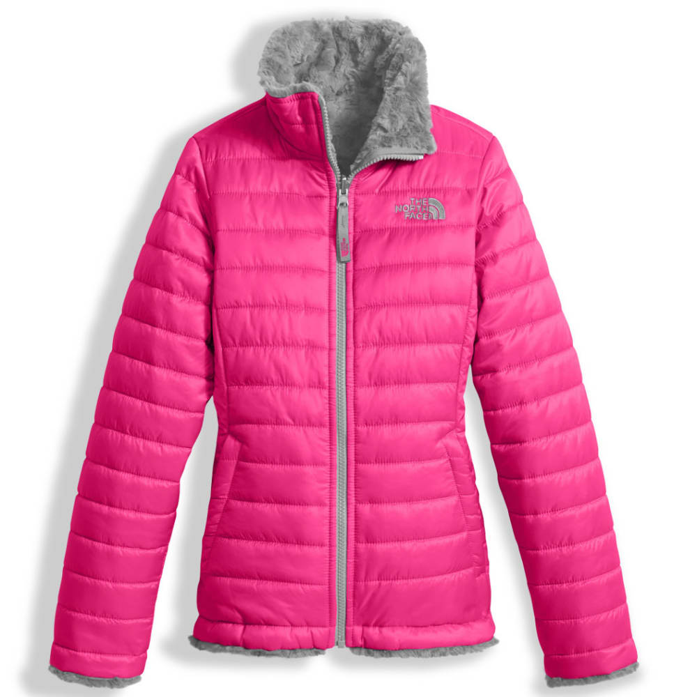 THE NORTH FACE Girls' Reversible Mossbud Swirl Jacket - 79M-PETTICOAT PINK