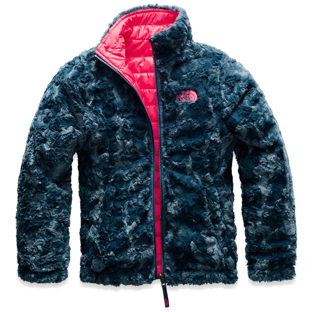 73c2dd3b257a THE NORTH FACE Girls  39  Reversible Mossbud Swirl Jacket - 4CK- ATOMIC PINK