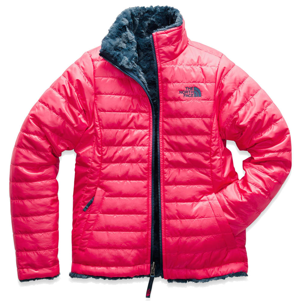 THE NORTH FACE Girls' Reversible Mossbud Swirl Jacket - 4CK- ATOMIC PINK