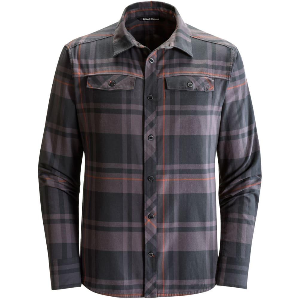 BLACK DIAMOND Men's Long-Sleeve Stretch Technician Shirt - BLK/SLATE PLAID