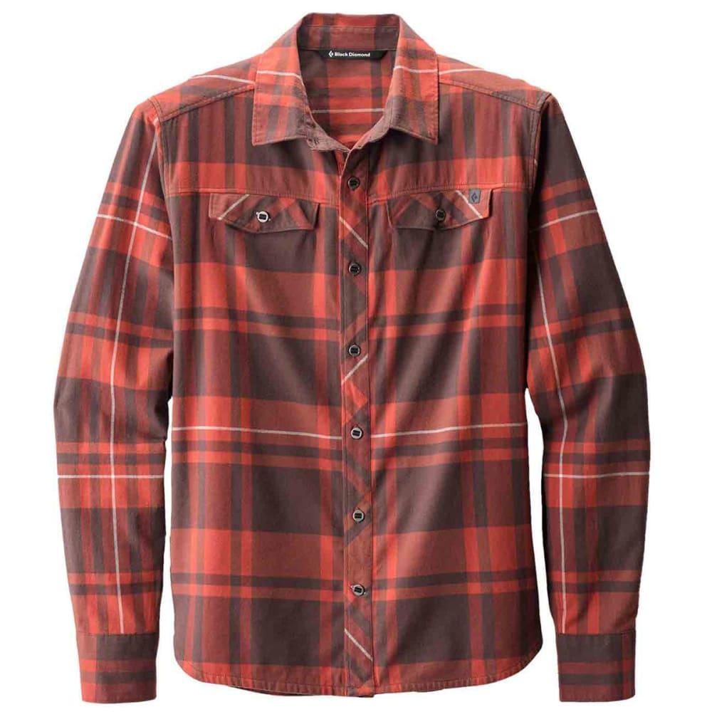 BLACK DIAMOND Men's Long-Sleeve Stretch Technician Shirt - RUST/MOCHA PLAID