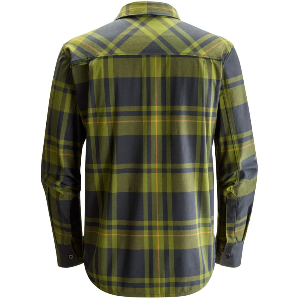 BLACK DIAMOND Men's Long-Sleeve Stretch Technician Shirt - CARGO/BLK PLAID