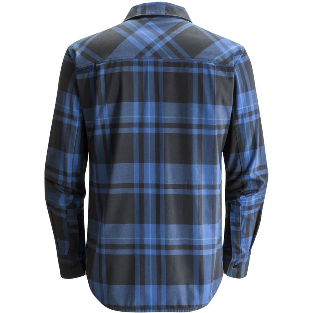 BLACK DIAMOND Men's Long-Sleeve Stretch Technician Shirt - DENIM/BLK PLAID