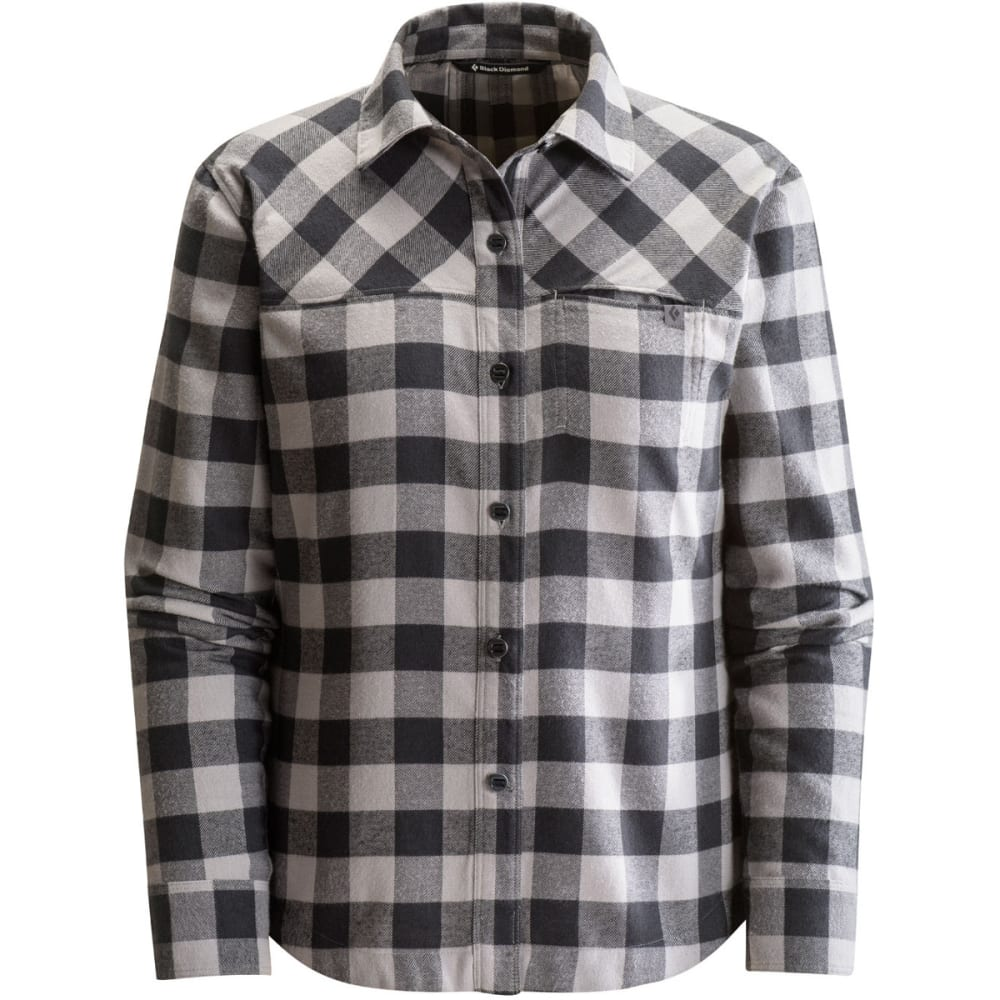BLACK DIAMOND Women's Long-Sleeve Spotter Shirt - NICKEL/BLK GINGHAM