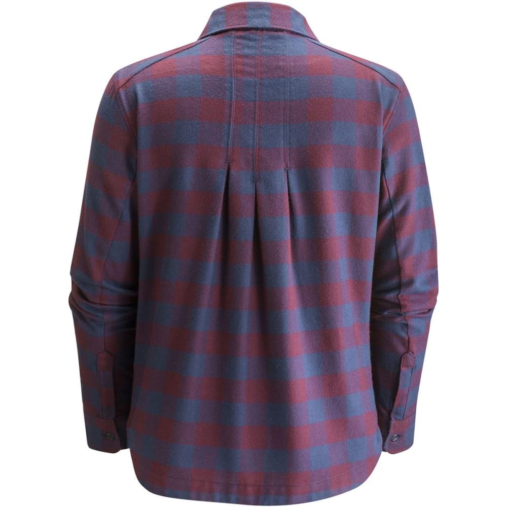 BLACK DIAMOND Women's Long-Sleeve Spotter Shirt - MERLOT/CPTN GINGHAM
