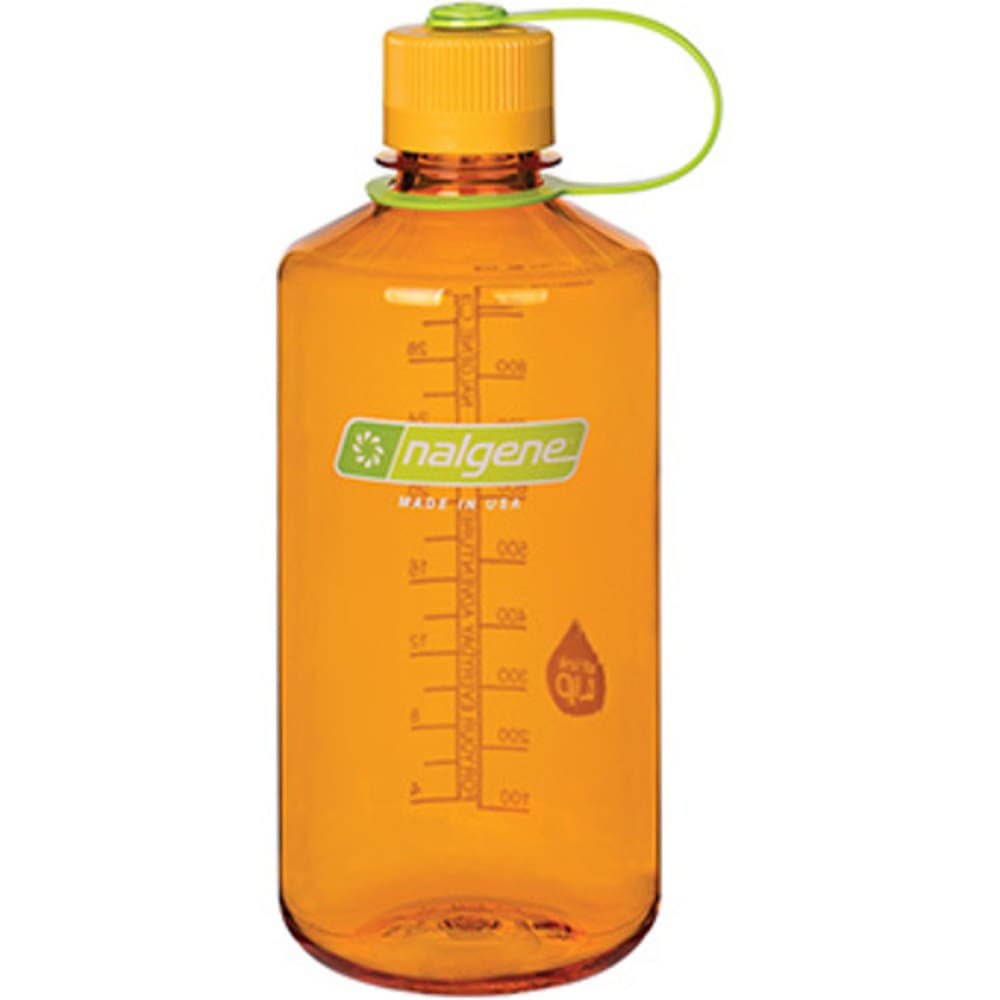 NALGENE Everyday Narrow Mouth Water Bottle, 1 Quart - CLEMENTINE 342026