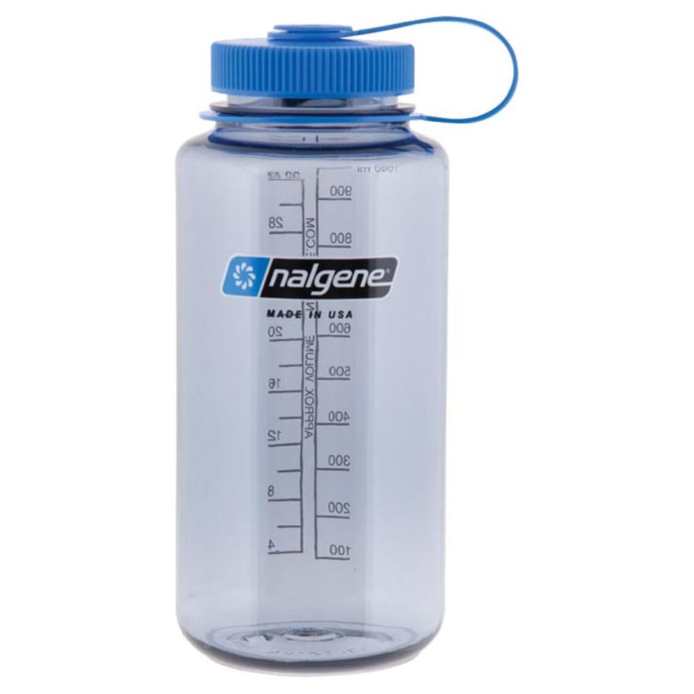 NALGENE 32 oz. Wide Mouth Water Bottle - GREY/BLUE 341829