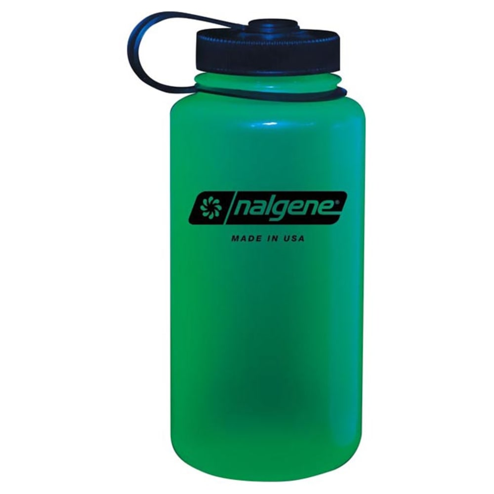 NALGENE 32 oz. Wide Mouth Water Bottle - GLOW GREEN 341816