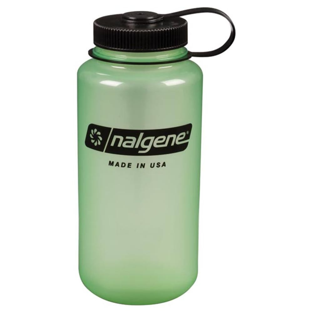 NALGENE 32 oz. Wide Mouth Water Bottle - GLOW GREEN 341816